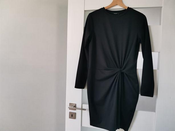 Sukienka Reserved 38 40 M L czarna mała ściagacz bawełna