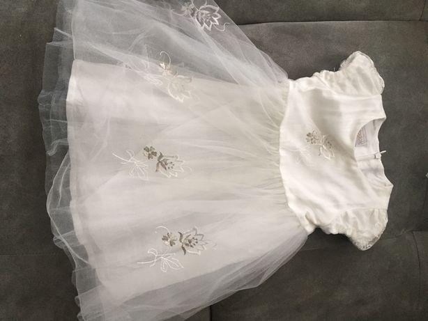 Sukienka z krotkim rękawem r.86, tiulowa Dadak