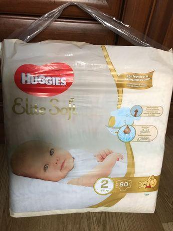 Памперси huggies elite soft 2 (4-6 kg) 80