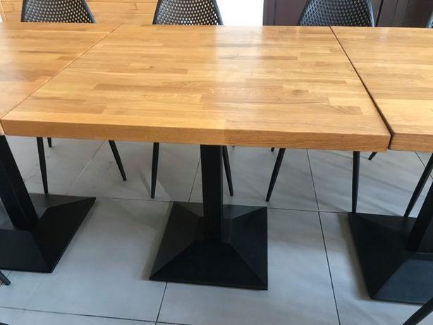 Stół z żeliwną podstawą