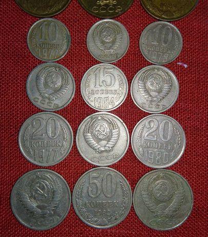 Монеты копейки СССР коллекция с 1956 года по 1991 год нумизматика
