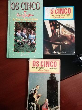 """Livros de """"os cinco"""" e coleção livros FCPorto"""