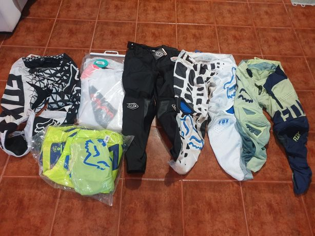 Calças e camisolas motocross ou enduro