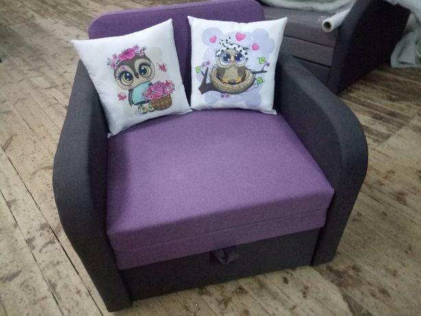 Детский диван - кресло JuniorArt70 совушки