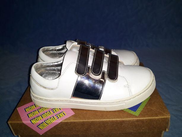 Кеды кроссовки Evie shoes кожаные для девочки 30р
