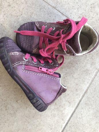 Демисезонные ботиночки ecco на девочку 22 размер