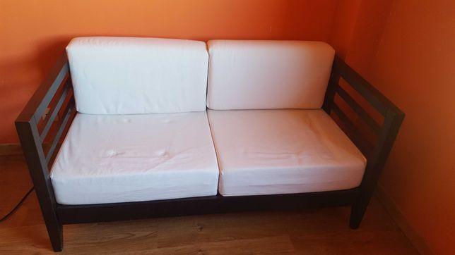Vendo sofá 2 lugares tecido bege