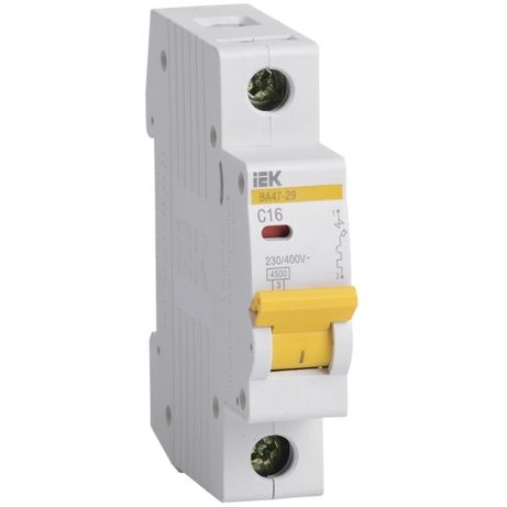 Автоматический выключатель ВА47-29 1P 16A 4,5кА х-ка C