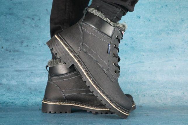 BATICH Б2 неубиваемые прошитые мужские кожаные ботинки чоловічі зимові