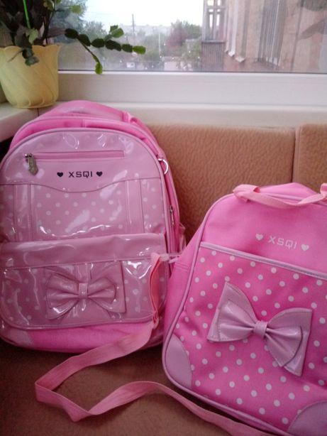 Стильный Рюкзак школьный и сумка для обуви