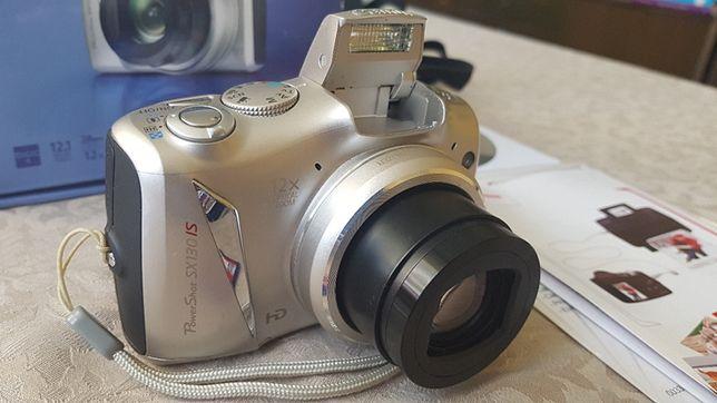 Aparat fotograficzny, kompakt Canon PowerShot SX130IS, zoom x12, torba
