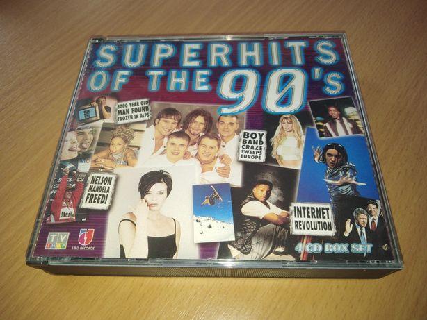 Płyta płyty 4× CD Superhits of the 90's muzyka lata z lat 90 pop dance