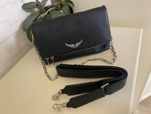 Кожаная сумка Zadig & Voltaire