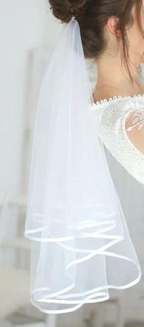 Biały welon na ślub