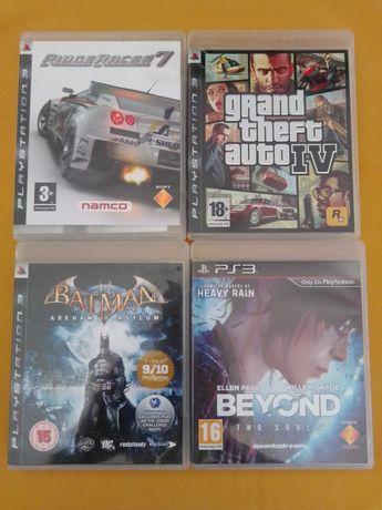 Jogos PS3 - Beyond. GTA 4. Batman. Ridge Racer 7