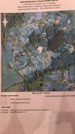 Продаж земельної ділянка 37,5 соток в с. Велика Буґаївка