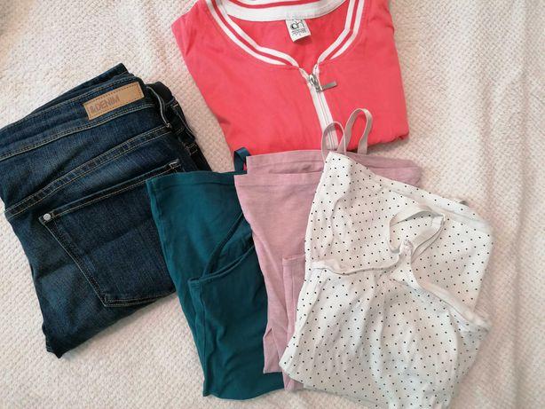 Odzież/ubrania ciążowe,H&M,DoctorNap, jeansy, top do karmienia, piżama