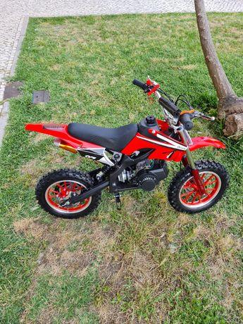 Mini Moto Cross Gasolina 49cc Varias Cores Nova
