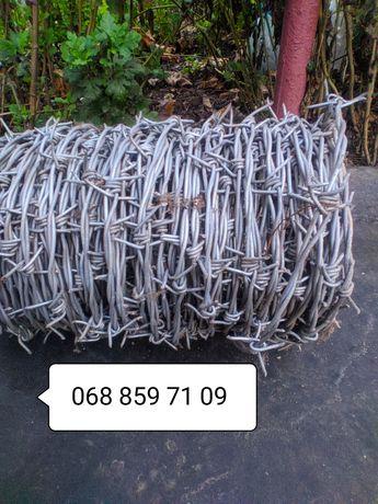 Колючая проволока оцинкованная двухосновнная, забор, охрана, защита