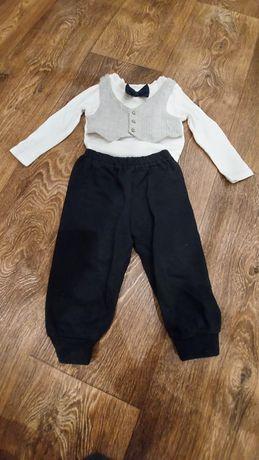 Нарядный костюм на мальчика боди и штанишки H&M