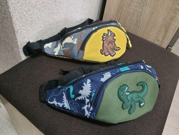дитячий рюкзак детский с динозавром сумка через плечо бананка