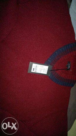 Nowy, gruby sweter marki BYTOM w kolorze bordo, rozm. XL