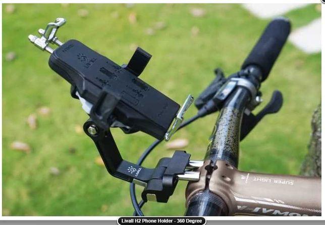 крепление телефона в вынос руля велосипеда вело Livall H2 360 градусов