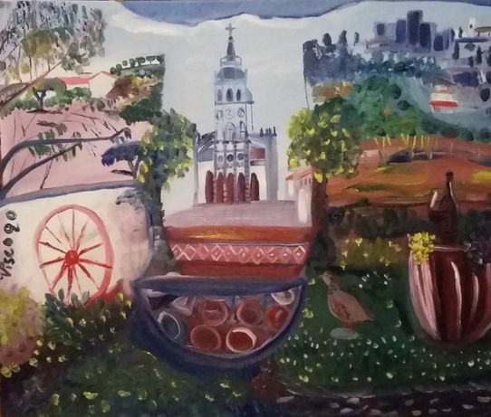 Promoção 50% desconto, Pintura; óleo sobre tela, 50x60 cm.