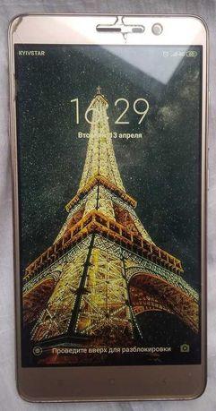 """Смартфон Redmi Nоte3. Gold. 3/32 Гб, 6-ядеp,Большой дисплей-5,5""""."""