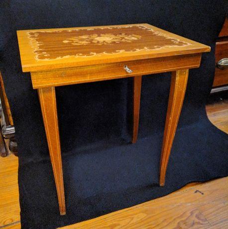 Mesa Costura Mogno Caixa Música