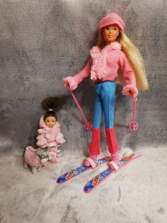 Lalka Barbie na nartach