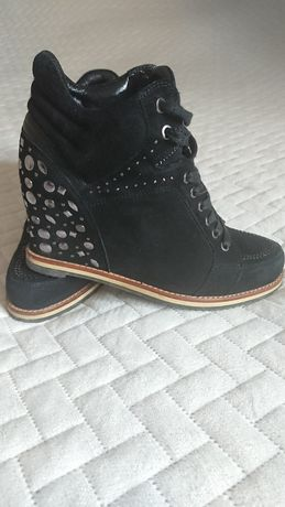 Buty na kotutnie pierre cardin skóra naturalna skórzane nubuk sneakers