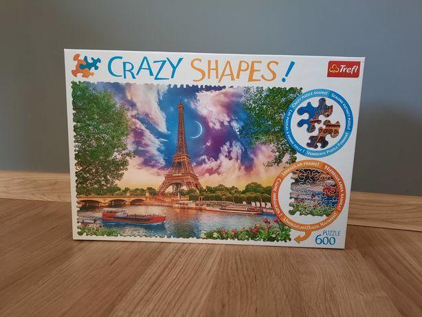Puzzle Crazy Shapes - Paryż, 600 elementów, kompletne