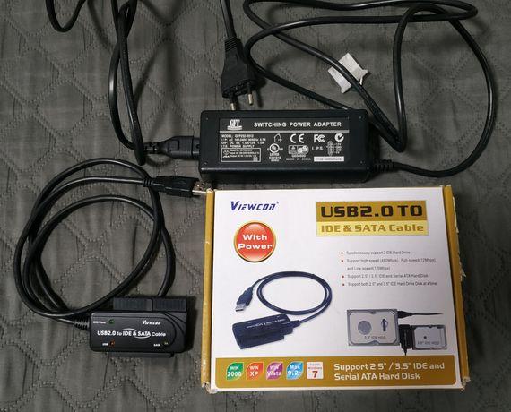 Адаптер, переходник для HDD 2.5/3.5 SATA, IDE, DVD привода через USB