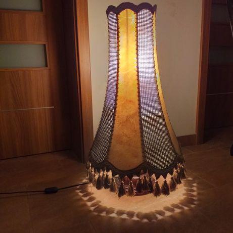 lampa stojąca abażurowa antyk