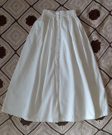Спідниця біла юбка белая бавовна хлопок