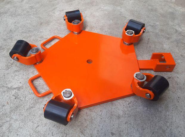 Wózek rotacyjny do transportu maszyn Wr5/5sz transportowy Wózki