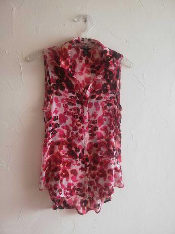 Zwiewna koszula w kolorową panterkę H&M