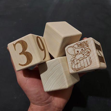 Кубик деревянный, оптом.