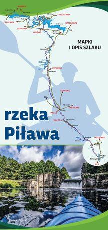 Przewodnik po rzece Piławie, Mapa Piława, Książeczka kajakowa Piława