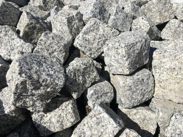Kostka granitowa jasnoszara - wysoka jakość - bardzo trwała