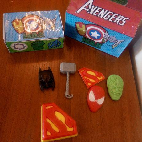 набор мыло ручной работы batman Spiderman hulk superman марвел герои