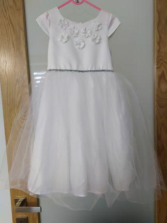 Rozm.128 Sukienka Cool Club biała tiulowa okolicznościowa ślub wesele
