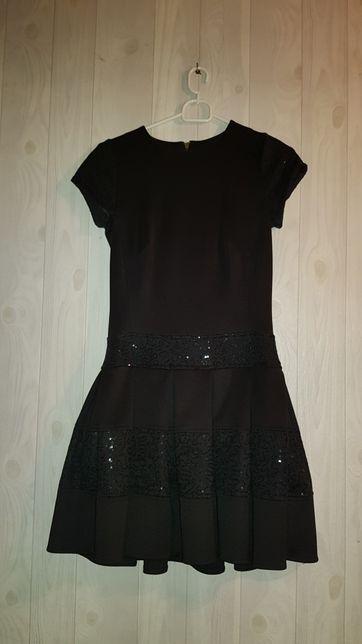 Sukienka czarna impreza studniówka mała czarna