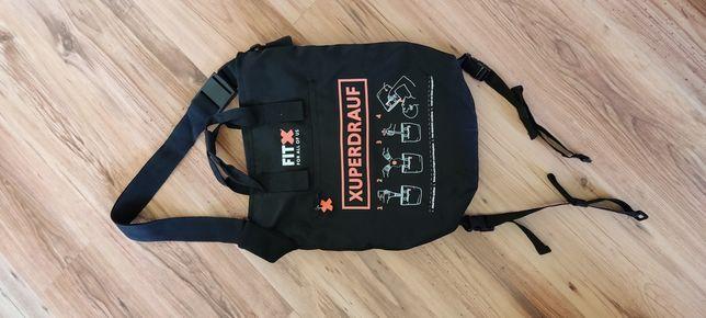 Czarna torba sportowa FitX, kompletna, jak nowa