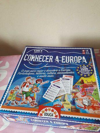 Jogo de tabuleiro - conhecer a Europa