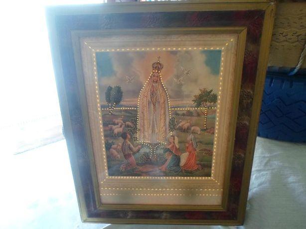 arte sacra quadro da Nossa Sra. de Fatima antigo