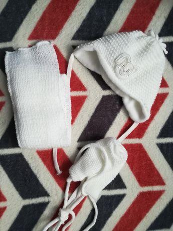 Czapka, rękawiczki, szalik. KOMPLET