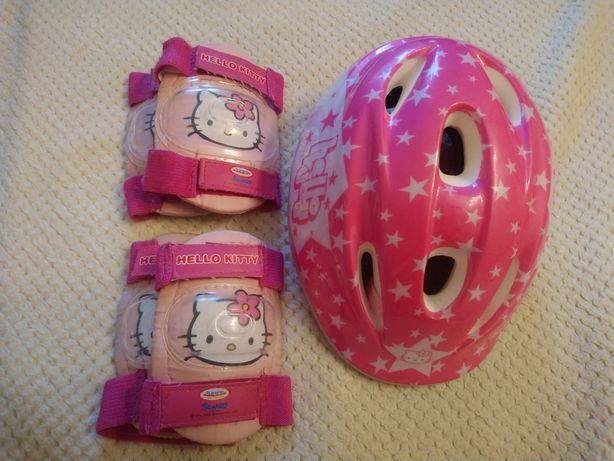 Kask i ochraniacze Hello Kitty XS