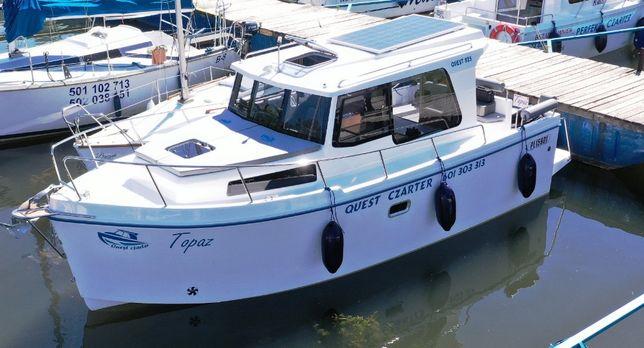 Wynajem czarter houseboat Mazury łodzi Quest 825 Jacht motorowy